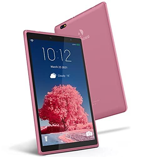 Tablet 8 Pollici Android 10.0 Google Certificazione GMS Tablet PC, 3GB RAM+32 128GB ROM,Tablet per Bambini con Fotocamera da 5MP, Tablet Offerte Supporta GPS, FM e Wi-Fi (Rosa)