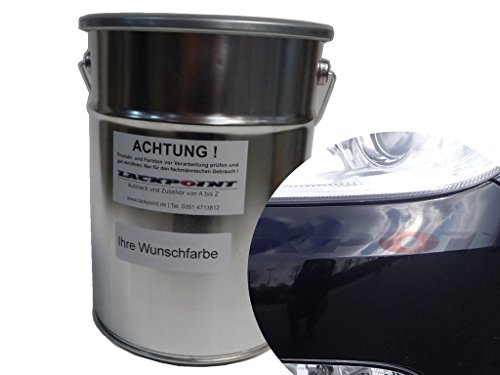 Lackpoint 0,5 Liter Spritzfertigen Basislack Skoda 9910 Schwarz Metallic Autolack