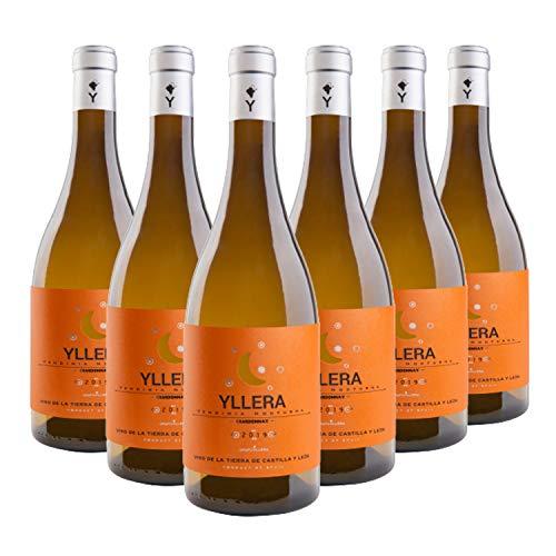 Yllera | Vino Blanco Yllera Chardonnay | Pack de 6 uds | 75 cl | IGP Vino de la Tierra Castilla y León | Aroma a Frutas Tropicales y Hierbas | Elegante y Sabroso | Añada 2019 | Vino Español
