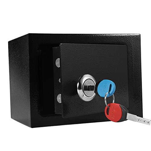 Fuerte Alta Seguridad Caja Fuerte con Llaves Acero Almacenamiento de Efectivo Dinero Anti-robo Duradera Casa Oficina