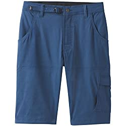 prAna Men's Standard Stretch Zion Short, Equinox Blue, 28W 12L