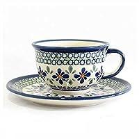 [Zaklady Ceramiczne Boleslawiec/ザクワディ ボレスワヴィエツ陶器] カップ&ソーサー-du60 ポーリッシュポタリー