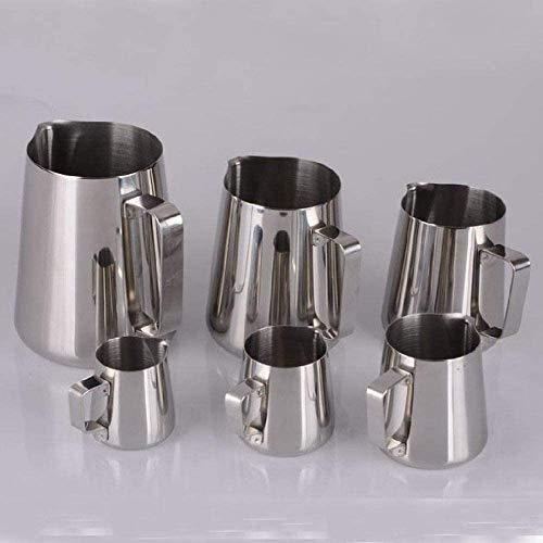 MOCHENG - Jarra para hacer espuma de leche de acero inoxidable, jarra de café espresso, barista, manualidades, café, leche, leche, jarra, 600 ml (350 ml)