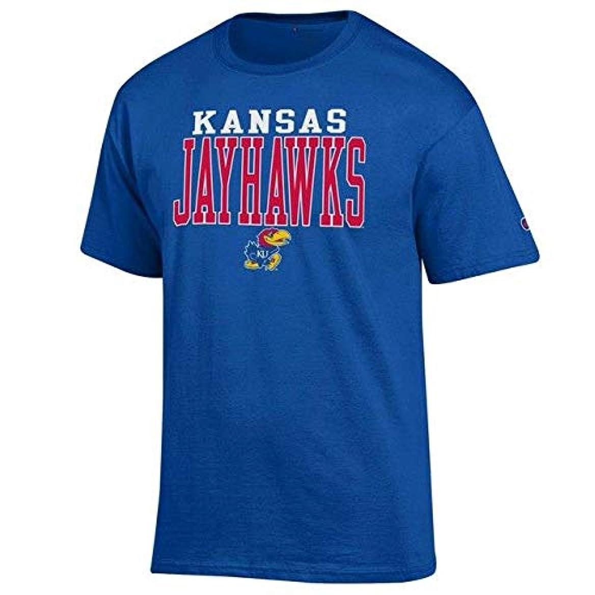 抜け目のないシャーロットブロンテ迷路Champion Champion Kansas Jayhawks Royal Core Mascot T-Shirt スポーツ用品 【並行輸入品】