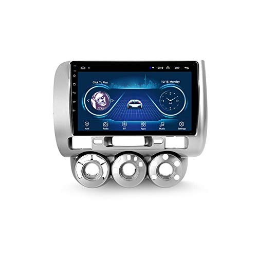 Autoradio 2 Din, Android Bluetooth Radio De Coche 9'' Pantalla Táctil Wifi Plug And Play Completo RCA SWC Soporte Carautoplay/GPS/DAB+/OBDII Para Honda Jazz 1/Fit 1 2001-2009,Quad core,Wifi 1G+16G