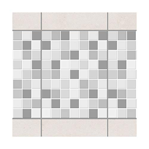 Apalis Fliesenbordüre – Mosaikfliesen Winter Set 20 cm x 15 cm, Set-Größe: 4 Stück