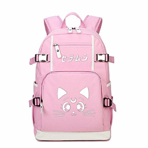 YOYOSHome Leuchtende, japanische Anime-Cosplay-Laptoptasche, Büchertasche, College-Tasche, Rucksack, Schultasche (Seemann-Mond)