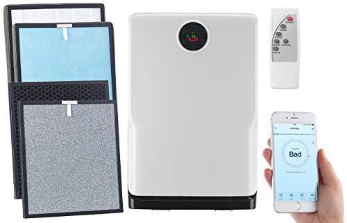 Sichler Haushaltsgeräte UVC Luftreiniger: 6-Stufen-Luftreiniger mit UV, Ionisator, WLAN, inkl. Ersatzfilter (Luftreiniger Filter)