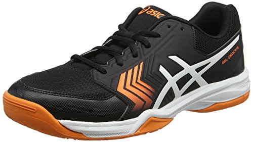 Asics Gel-Dedicate 5, Zapatillas de Tenis Hombre, Negro (Black/White/Shocking Orange), 48 EU