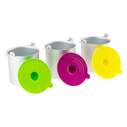 H.Koenig BO318 Juego de 3 boles para máquina de helados HF180, Acero Inoxidable, plástico, Multicolor