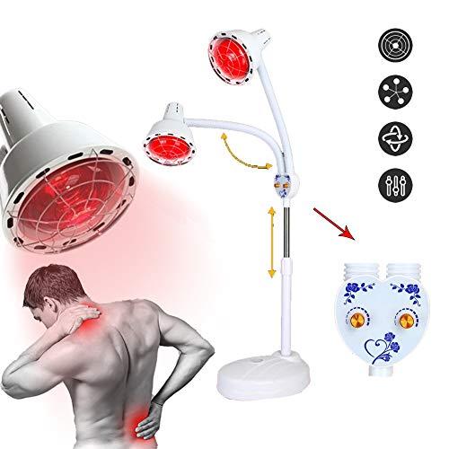 ZYJFP Infrarood lamp, twee lampen, instelbare temperatuur, infrarood lamp voor therapie, verlichting van spierpijn, ideaal voor woonkamer, schoonheidssalon, 275 W