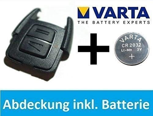OPEL Astra G / Zafira A Schlüssel Abdeckung Gehäuse + VARTA CR2032 Batterie Set