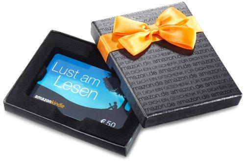 Amazon.de Geschenkkarte in Geschenkbox - 50 EUR (Kindle)