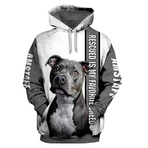 Forme a Animal Dog 3D Print Hoodie, Hombres Mujeres Sudadera Casual Pet Dog Designs Abrigo con Capucha Hoodies...