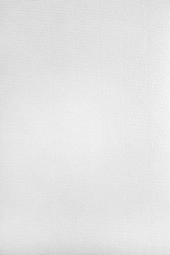 50 x Weiß Papier gerippt mit Wasserzeichen DIN A4 297x210mm 120g Aster Laid White hochwertiges Briefpapier Effektpapier mit feiner Rippung Ausstattungspapier Designpapier Urkundenpapier Motivpapier