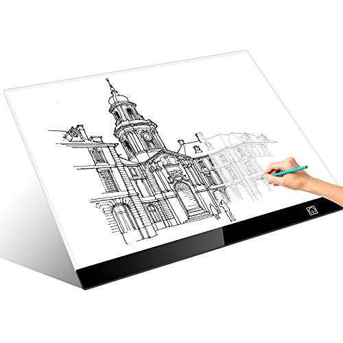 Guiseapue Mesa de Luz para Calcar LED A3 Mesa de Luz Dibujo Tablet de Luz para dibujar USB proyector para dibujar para Animacion Tatoo Dibuja Caligrafía