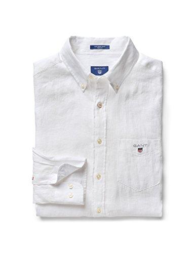GANT Herren The Linen Shirt Reg Bd Freizeithemd, Weiß (White 110), X-Large (Herstellergröße: XL)