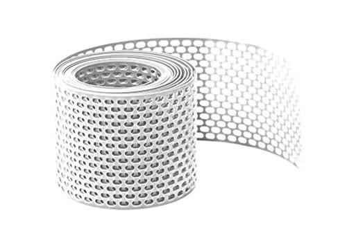 Lüftungsband/Vogelschutzgitter, 5m PVC gerollt Weiß 180mm