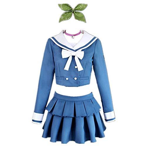 CHANGL 8PCS / Set Cosplay Kostüm Halloween Karneval Danganronpa V3 Chabashira Tenko Tägliche japanische High School Uniform JK Kleid Anzüge mit Zubehör Outfit