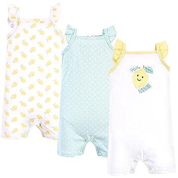 Hudson Baby Unisex Baby Cotton Rompers Mint Lemon 18-24 Months