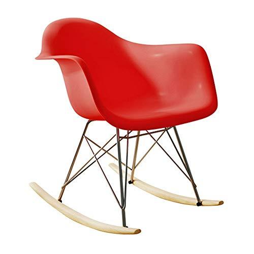 Tollmllom Mecedora Living Room Chair Salón Rocker cómodo Relax Mecedora Sillón Relax Presidente Opcionales sillón reclinable Silla Relajante (Color : Rojo, Size : 67.5x68x52cm)