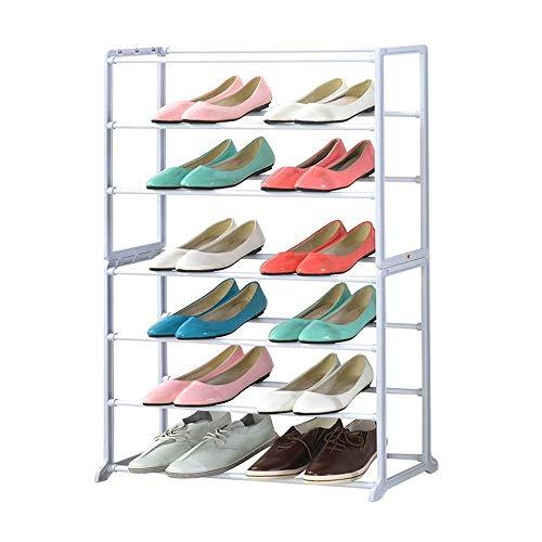Zjcpow Zapatero de 7 niveles de metal zapatero organizador de almacenamiento para zapatos