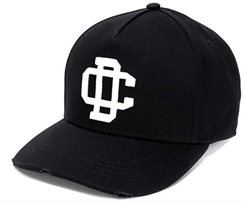 DSQUARED2 DC Crest Varsity Baseballcap Cap Kappe Basebalkappe Hat Hut Black White