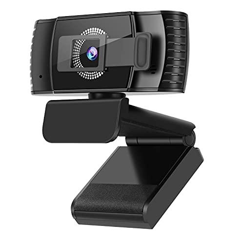 Kaulery 1080P HD Webcam Autofokus mit Objektivdeckel, Webcam mit Stereo-Mikrofon für PC, Laptop, Desktop,USB Webkamera für Live-Streaming, Videoanruf, Konferenz, Online-Unterricht, Spiel