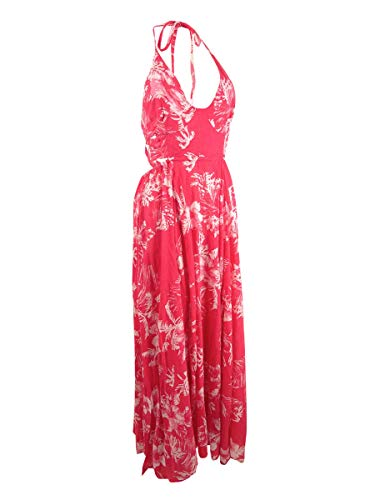 Free People Womens Lille Printed Sleeveless Maxi Dress Pink L