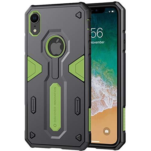 Apopp Caja Protectora de Ajuste Delgado Resistente a los Caso Duro Defener II Caso a Prueba de Golpes de TPU + PC for el iPhone XR HBDZ (Color : Green)