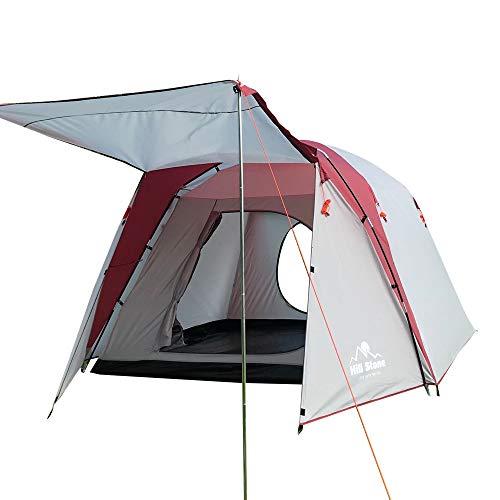 Hewflitツールームテントキャンプ アウトドア フルクローズ グリーン 耐水圧2000mm リビング スクリーン フライシート付き 収納バッグ付き [並行輸入品]