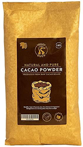 Veggy Duck - Cacao natural en polvo (1 kg) | crudo y puro | sin azúcar | sin OMG