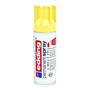 edding 5200-915 – Spray de pintura acrílica de 200 ml, secado rápido sin burbujas, color amarillo pastel mate
