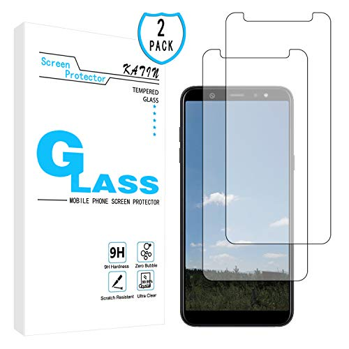 KATIN Galaxy A6 2018 Screen Protector - [2-Pack] Tempered Glass for Samsung Galaxy A6 2018 Bubble Free with Lifetime Replacement Warranty