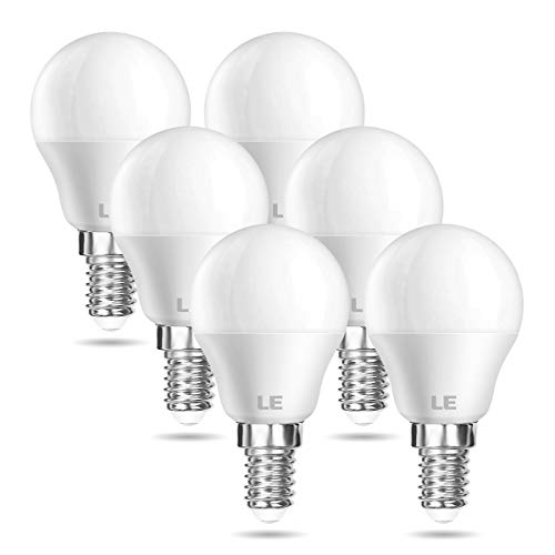 LE E14 LED Lampe, 5W 470 Lumen Glühbirne,entspricht 40W Glühlampe, 2700 Kelvin Warmweiß, P45 200° Abstrahlwinkel Energiesparlampe, 6 Stück