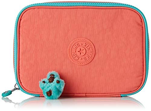 Kipling 100 PENS PLUS Astuccio, 21 cm, 1.5 liters, Rosa (Peachy Pink Fun)