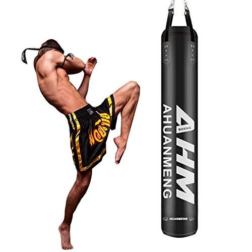 XHLLX Bolsas De Perforación Colgadas, Bolsas De Perforación Llenas De Boxeo Pesado, Bolsa De Perforación De Cuero De Microfibra De PU con Cadena, para Entrenamiento Fitness MMA Kickboxing