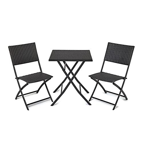 IWMH Conjunto Muebles de Jardín, Muebles de Exterior Plegables, Juego de Patio de Restaurante, Juego de Muebles de...