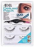 Ardell Deluxe Pack 110, 2 x Paar Echthaarwimpern mit Duo Wimpernkleber und Easy Applikator zum Anbringen der künstlichen Wimpern, das Original für perfekte Lashes, 26g (1x)