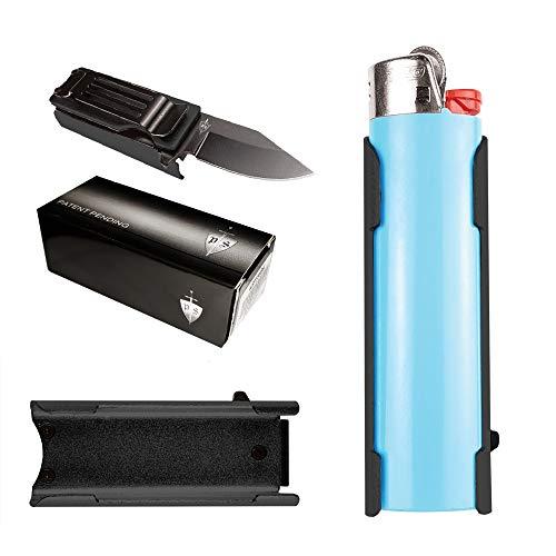 cigarette cases with bic lighters P.S Lighter Holder with Folding Pocket Knife, for BIC Lighter Only (Lighter Not Included)
