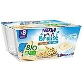 Nestlé Bébé P'tit Brassé BIO - Coupelle lactée Muesli Nature -...
