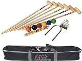 GICO - Jeu de croquet de qualité - 6 joueurs - Maillets taille adulte 100 cm - En sac de transport -3246