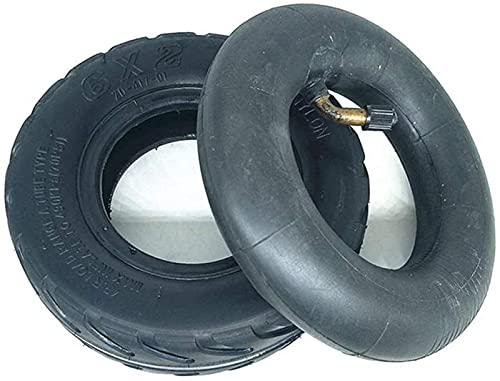 Neumáticos para Scooter eléctrico, 6X2, neumáticos internos y externos Antideslizantes y Resistentes al Desgaste, neumáticos sólidos, adecuados para Scooter eléctrico, fácil instalación198