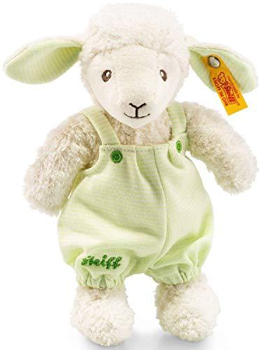 Steiff Lenny Lamm - 22 cm - Kuscheltier für Babys - kuschelig & waschbar - grün (237393)