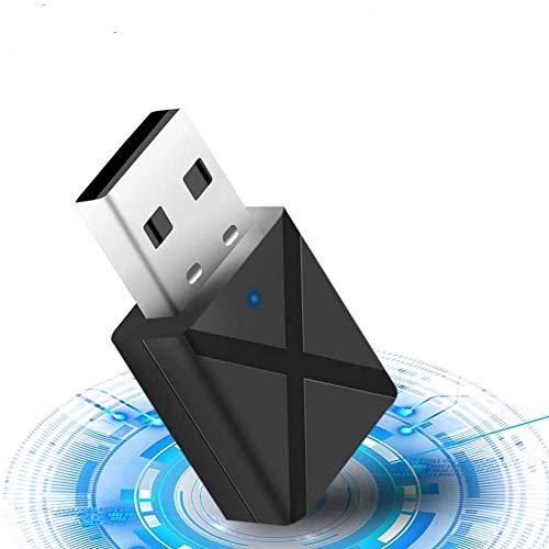 Bluetooth Adaptateur,USB 5.0 Bluetooth Adaptateur 2 en 1 du récepteur,Mini Adaptateur Dongle sans Fil pour PC/TV/Voiture/Maison, Casque, Clavier, Souris et Plus