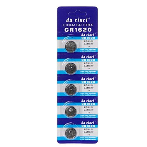 KLOVA 5 uds batería de Litio CR1620 botón electrónico Pilas de celda de Moneda 3VECR1620 DL1620 5009LC Reloj de Juguete Remoto CR 1620