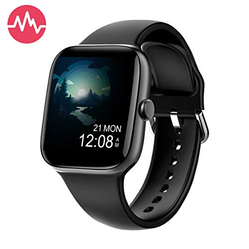 Smart-Watch-for-Men-WomenFitness-Tracker-with-154-Full-Touch-Colour-ScreenIP67-Waterproof-Pedometer-Smartwatch-with-Pedometer-Heart-Rate-Monitor-Sleep-Tracker-for-Android-and-iOS-Phones