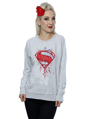 DC Comics DC Comics Mujeres Batman v Superman Geo Sudadera con logo X-Small Sport Grey