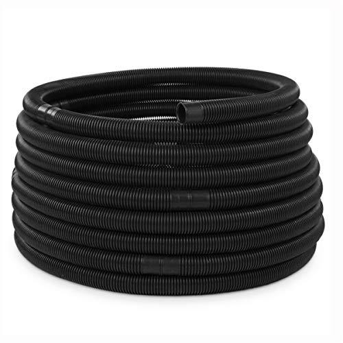 Tuyau de piscine - Diamètre : 32 mm - Noir - Espacement des manchons : 1,10 m - 49,5 m
