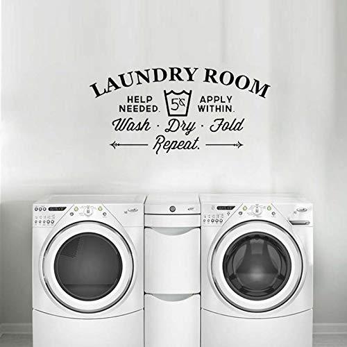 Kreative Waschküche Bad Badewanne Wandaufkleber Steuern Dekor Wc Aufkleber DIY Abnehmbare Vinyl Aufkleber Waschen Trocken Falten58 * 28 cm